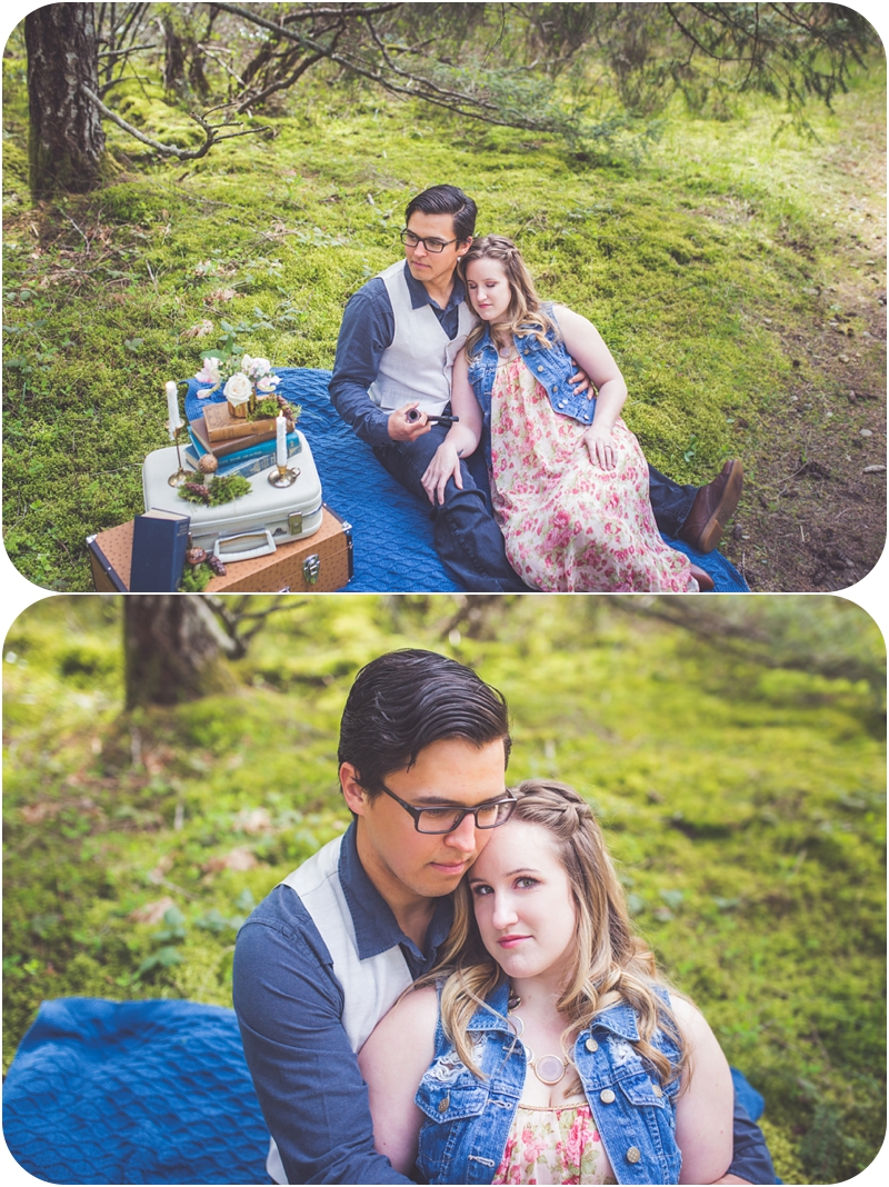 whimsical forest couples session qualicum beach bc