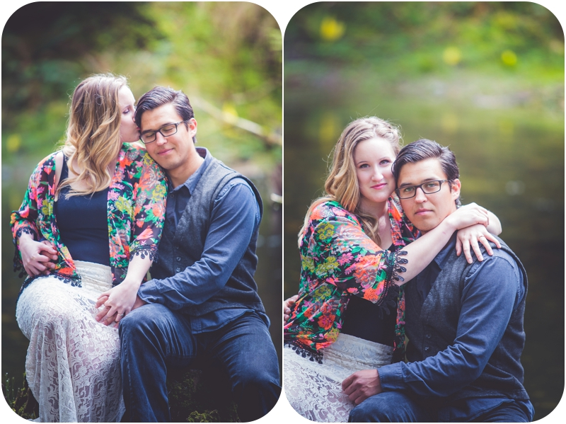 romantic couples portraits in qualicum beach bc