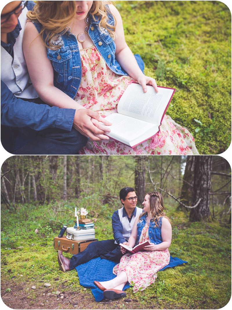 picnic couples session qualicum beach