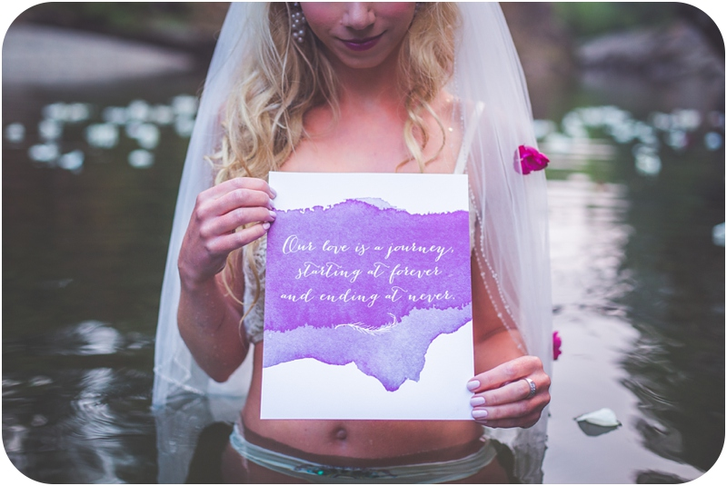 romantic wedding vows on custom watercolour stationary by tuktu paper co