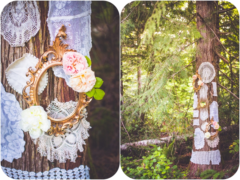 whimsical forest elopement wedding decor inspiration
