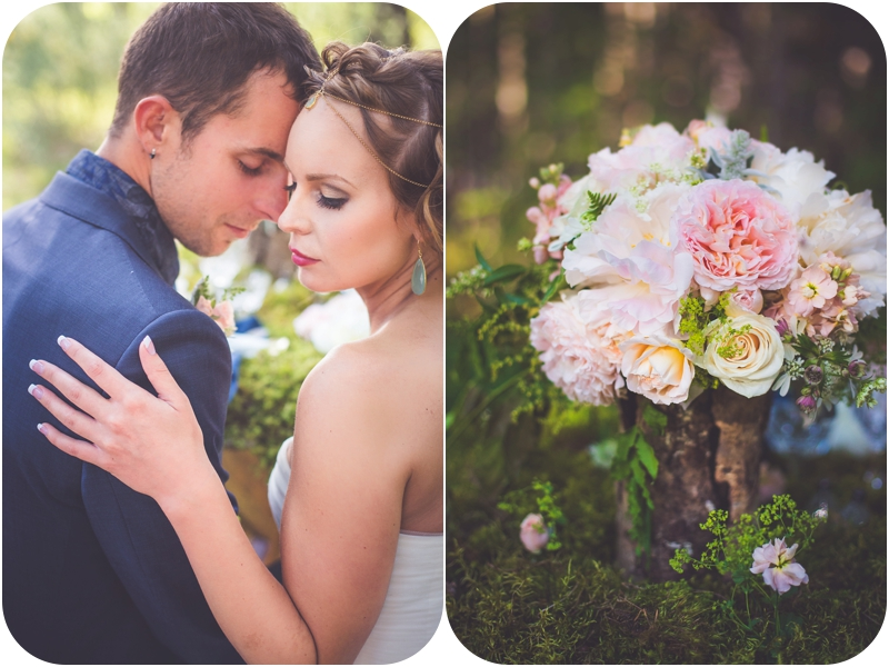 night song farm floral bouquet , makeup by chelsea dawn nanaimo, old crow jewelry boutique details