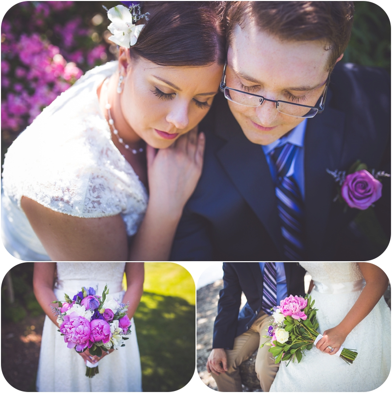 portraits in gardens at beachside b&b ladysmith bc wedding venue