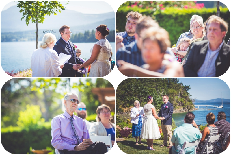 wedding ceremony overlooking ocean at beachside b & b wedding venue ladysmith bc