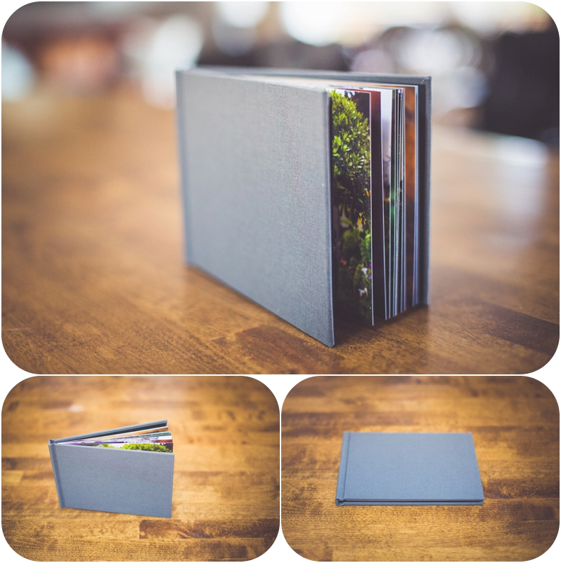 romantic vancouver island wedding photographer is gifting a whcc 5x7 album with grey fabric cover and thick pages for 2016 weddings