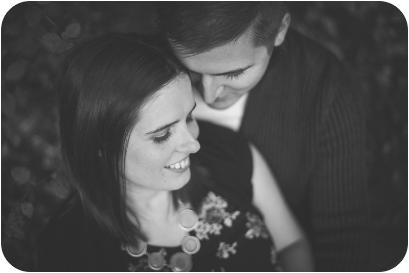 romantic black and white couples portrait of heather hutchison