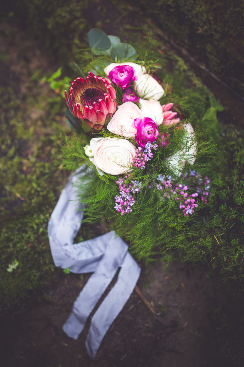 Non traditional bouquet for forest wedding