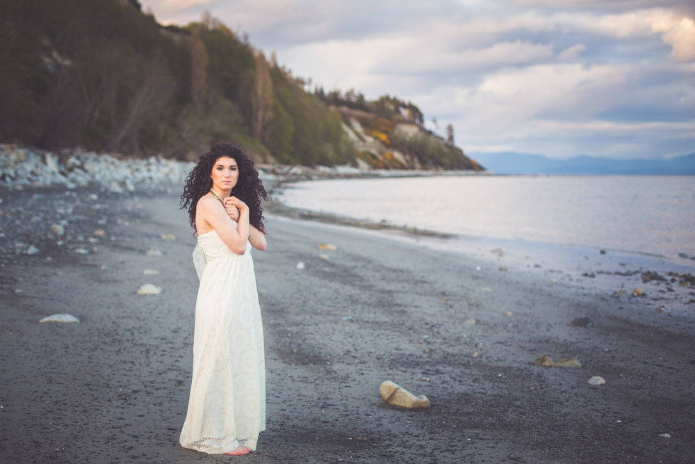 sunset bridal portraits in comox bc