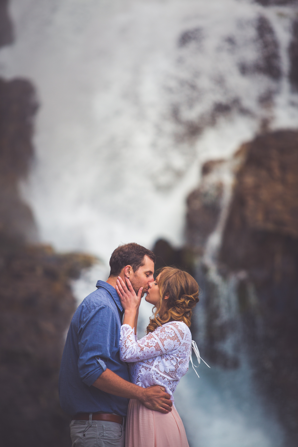bride and groom elopement at myra falls