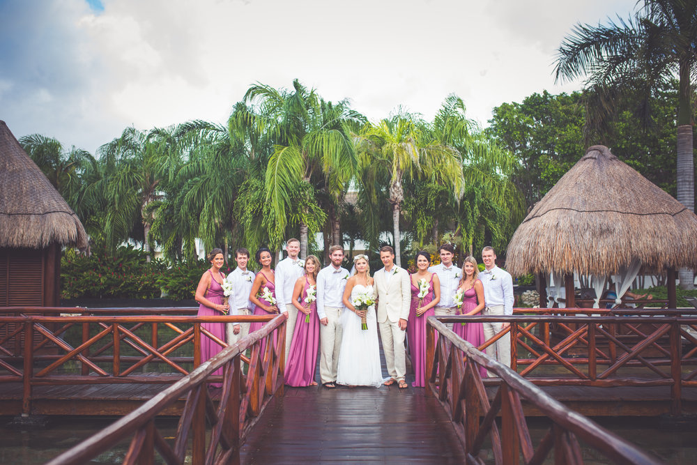 bridal party for mexico destination wedding