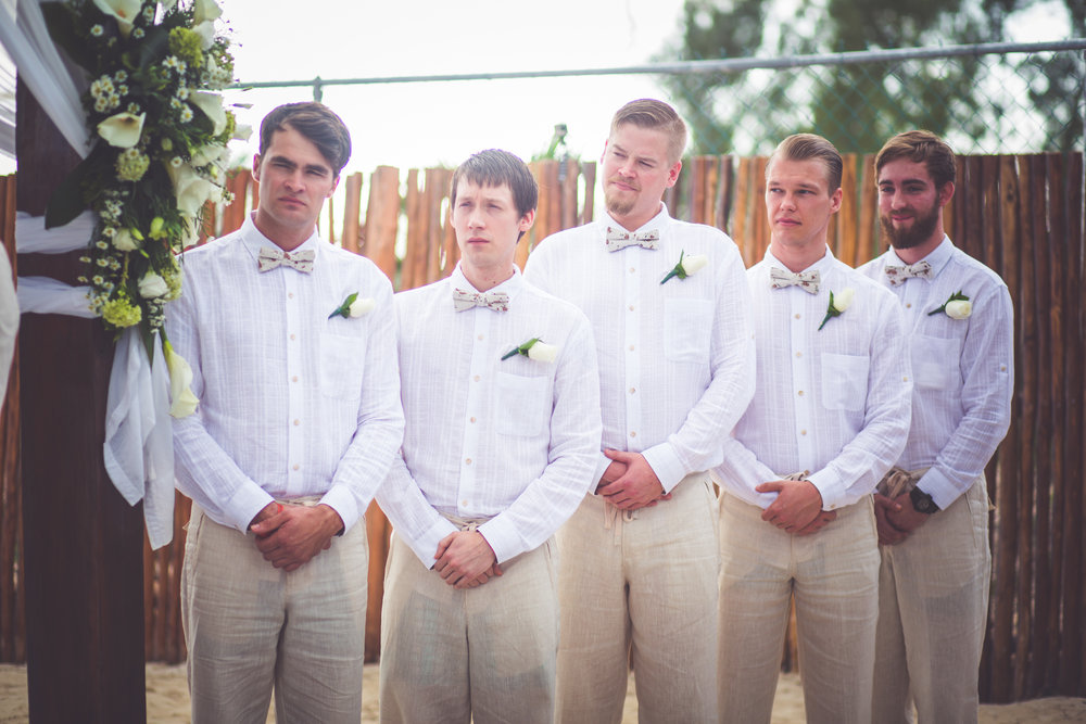 mexico wedding groomsmen attire