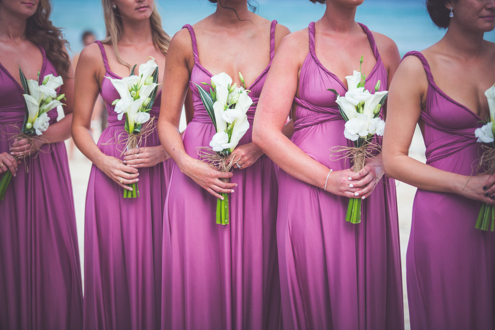 bridesmaids wrap dresses