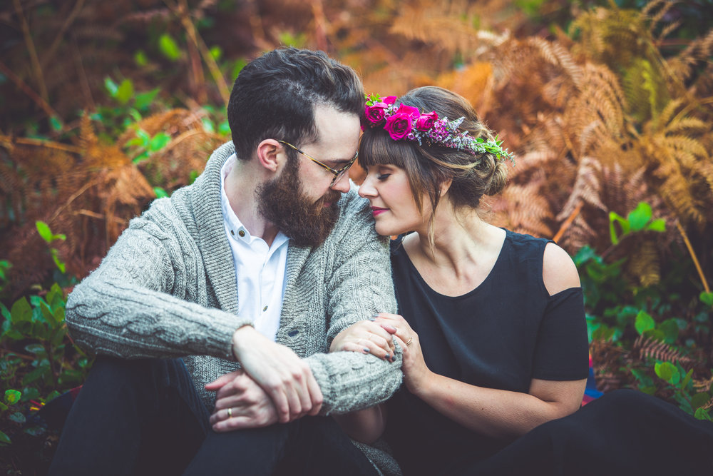 forest engagement photos vancouver island