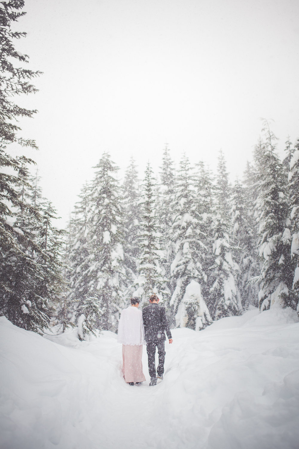 snowy wedding day inspiration courtenay bc