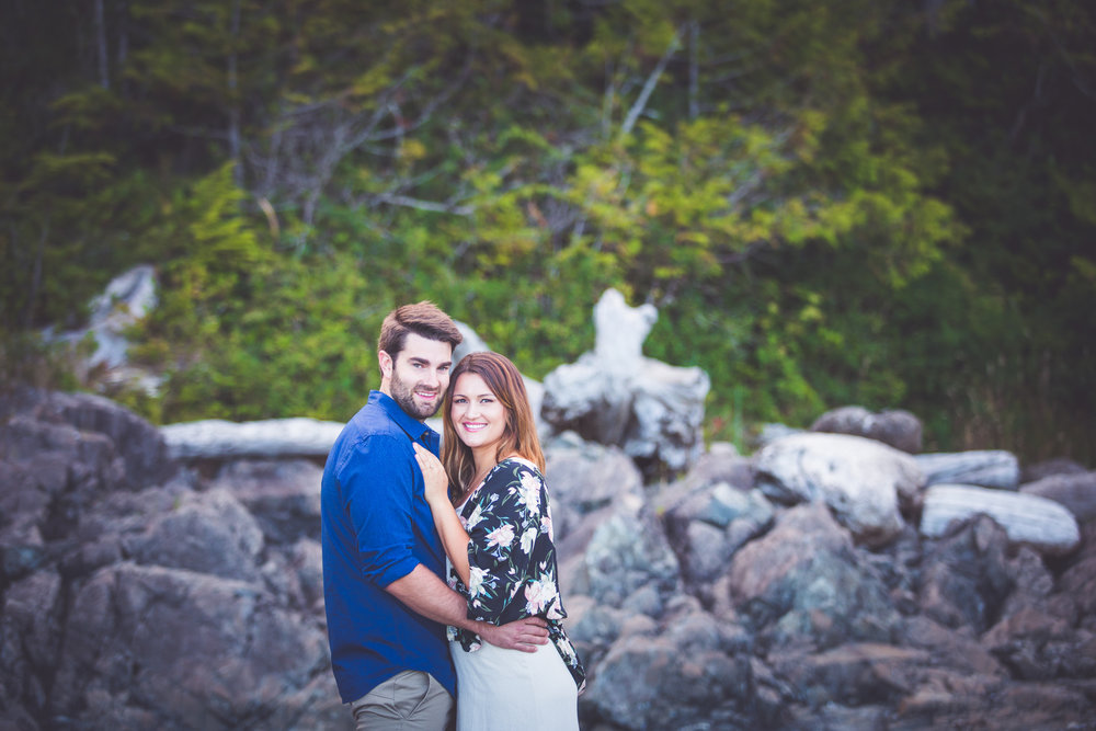 summer beach engagement session tofino bc
