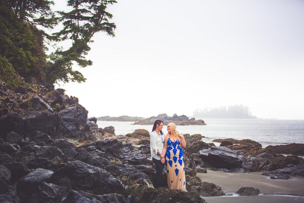 Same sex elopement Vancouver Island