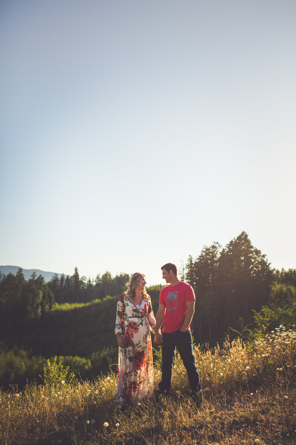 romantic engagement photos Qualicum Beach
