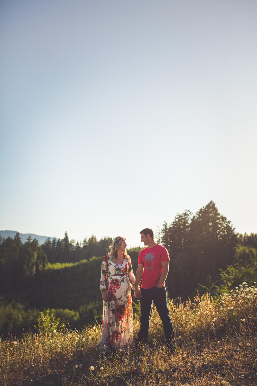 romantic engagement photos Qualicum Beach