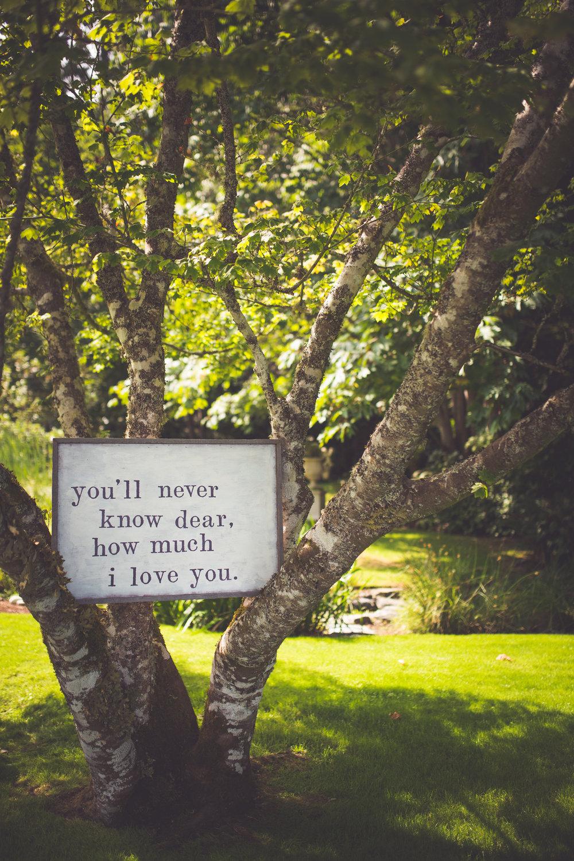 custom cedar wedding signs