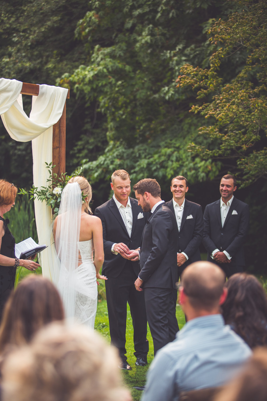groomsmen hands rings Vancouver Island