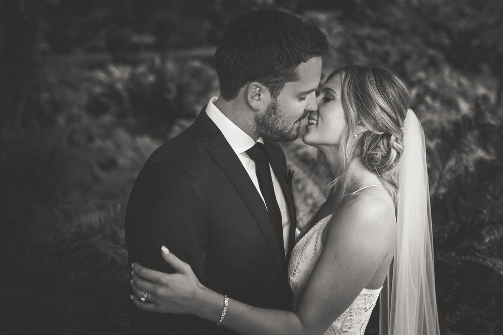 romantic black and white wedding images Vancouver Island