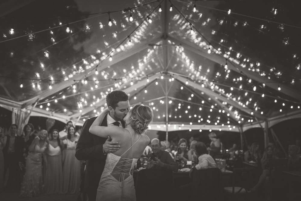 magical and romantic first dance photos in black and white