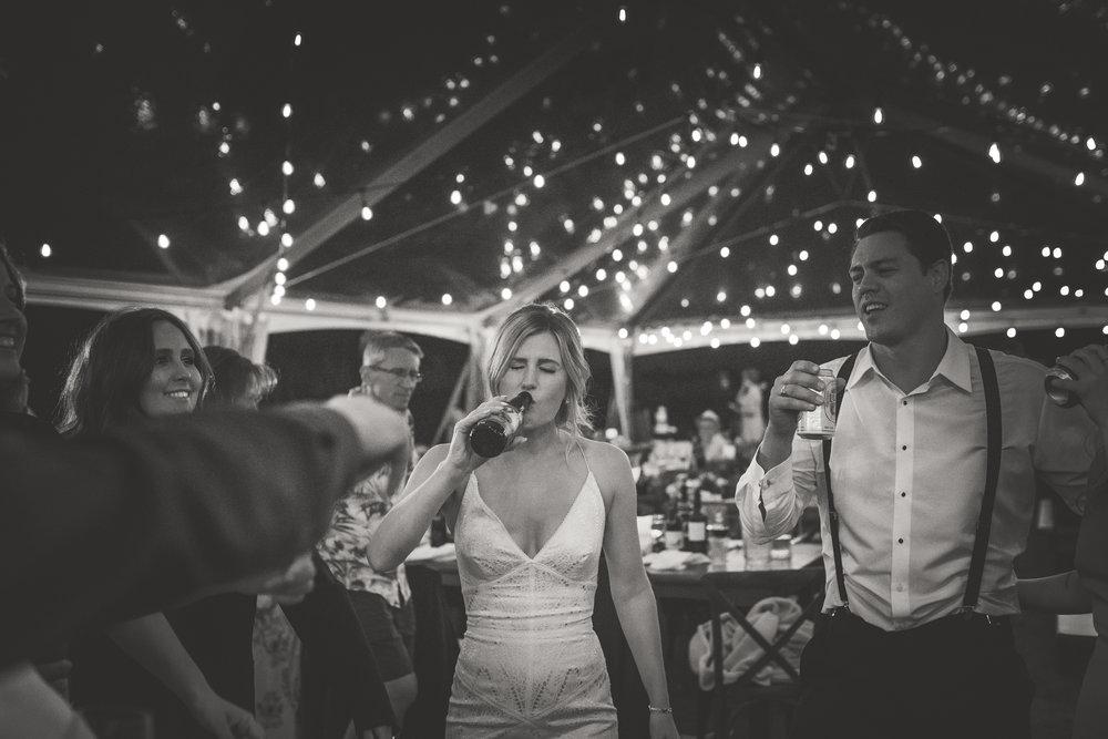 wedding reception party in Qualicum Beach