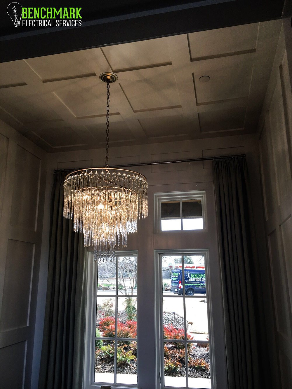 'Waterfall' Crystal Chandelier -
