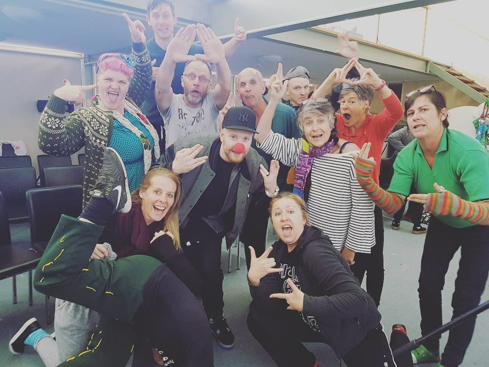 Defron with Clown Doctors Australia at their annual training retreat (2017)