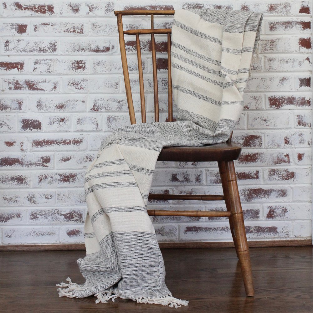 COZY THROW | $80 - This handwoven, 100% ecologically dyed cotton throw is the perfect gift for someone who enjoys a cozy night in, tucked up on the couch with a good book and a cup of cocoa – or glass of wine – in hand. HOW YOU GIVE BACK | Your purchase supports All Living Threads Co., which partners with cooperatives and families, enabling them to continue their art and tradition while earning a sustainable income to care for their families.