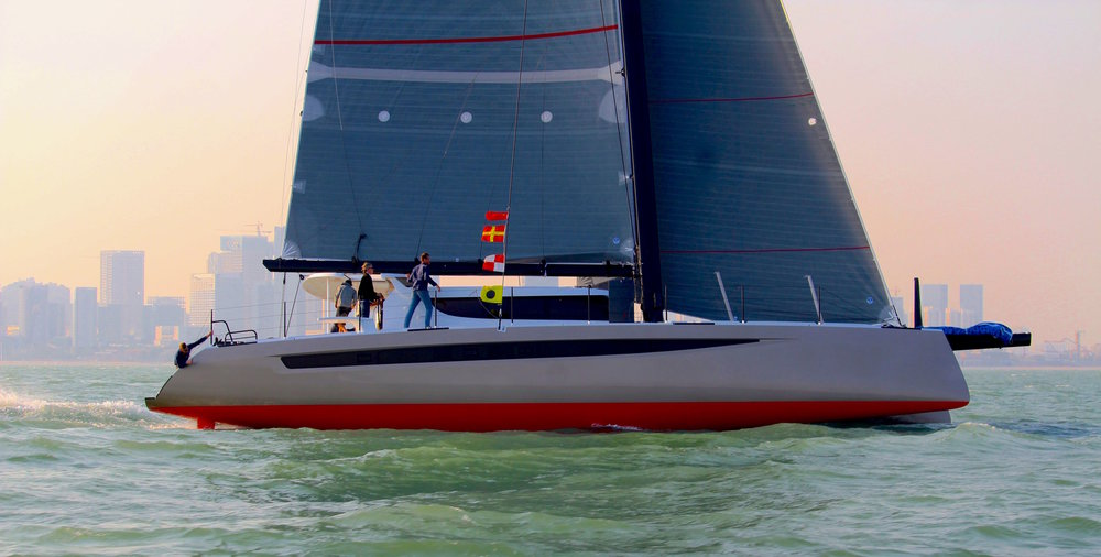 HH Catamarans' newest 66, 'Nala', launched this month in Xiamen. HH66-03 is the lightest 66 to date, and sports a taller mast and longer longeron than her previous sisterships. Nala will be headed for the Caribbean later this winter, with a packed itinerary that includes a number of regattas. We can't wait to see what this yacht will do on the racecourse! Sea trials are complete and the yacht is being prepared for shipping to the US. Check out a quick clip of Nala flying a hull, and keep an eye on our Facebook page for behind-the-scenes looks as the world's newest and, quite possibly, most turbocharged luxury cruising cat makes her way home.