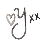 miss yasemin y signature with love heart