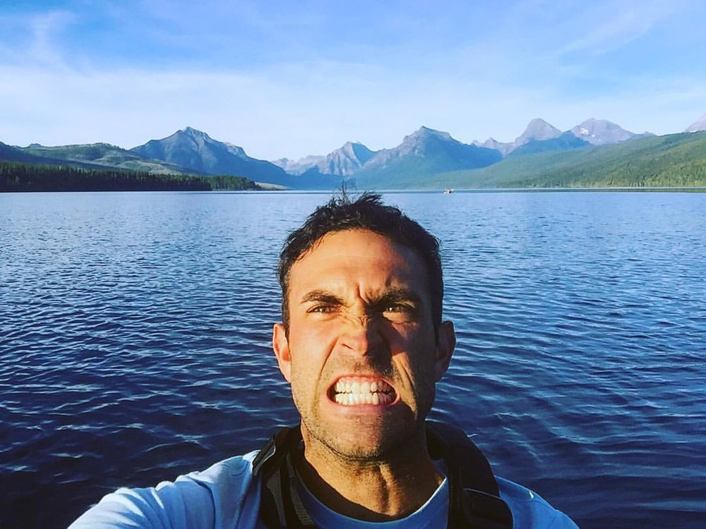 Kayaking in Glacier National Park, Montana