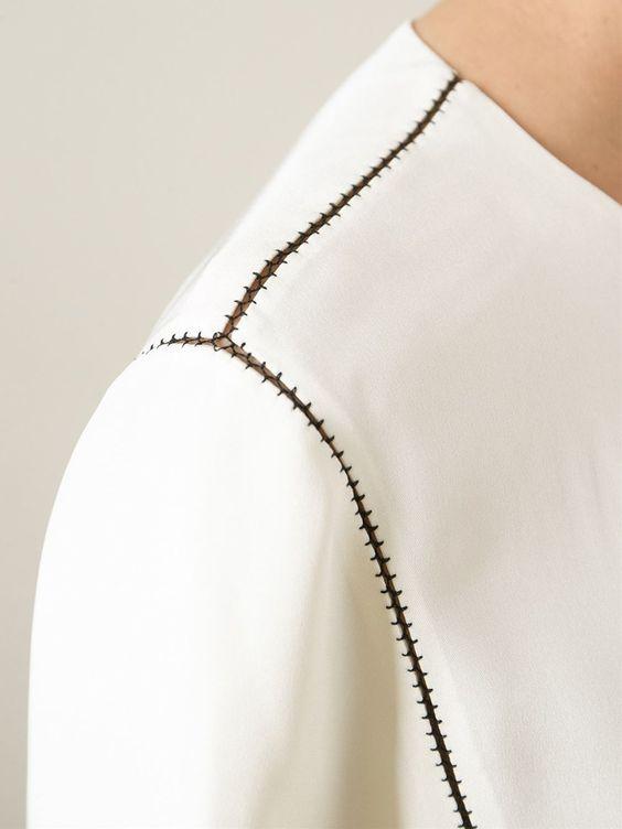 Stitch Detail Blouse  by Joseph