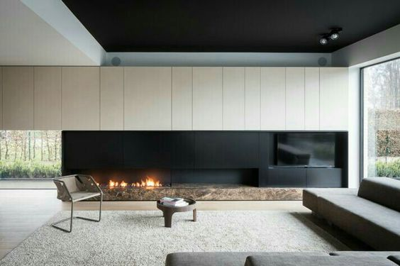 Concrete is often found in minimal interiors but it can often feel sterile  and clinical. If executed nicely, though it can still feel warm and homey.