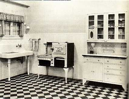 1930 u0027s   as the great depression begins the art deco era begins to become prominent in middle high class families  housewives would select bright and     american kitchen design through the decades  u2014 c u0026m interiors  rh   candmstudio com