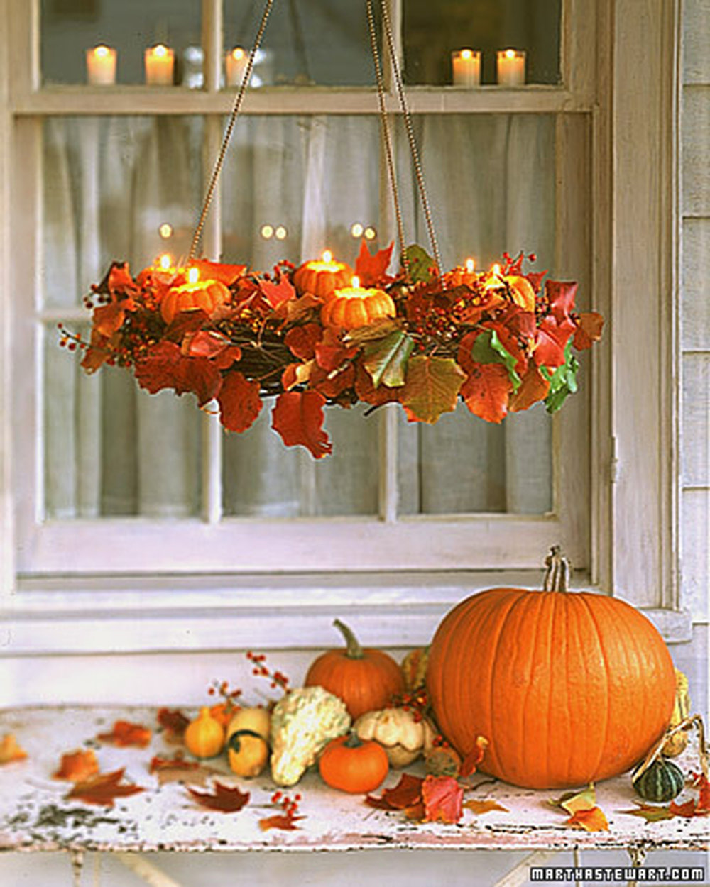 Wreath hanger & pumpkins from Martha Stewart Living | asavvylifestyle.com
