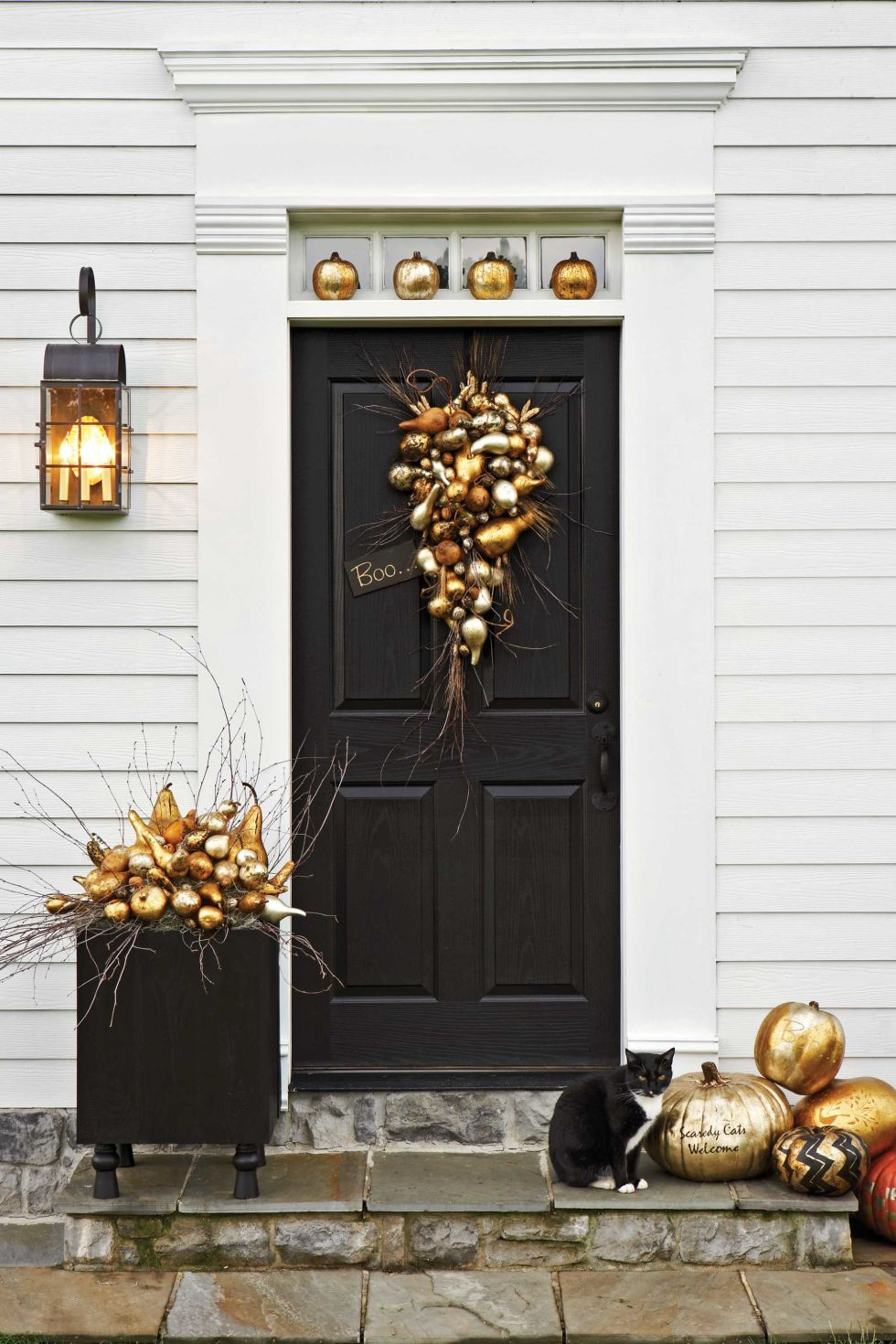 A DIY front porch for Halloween from Country Living.