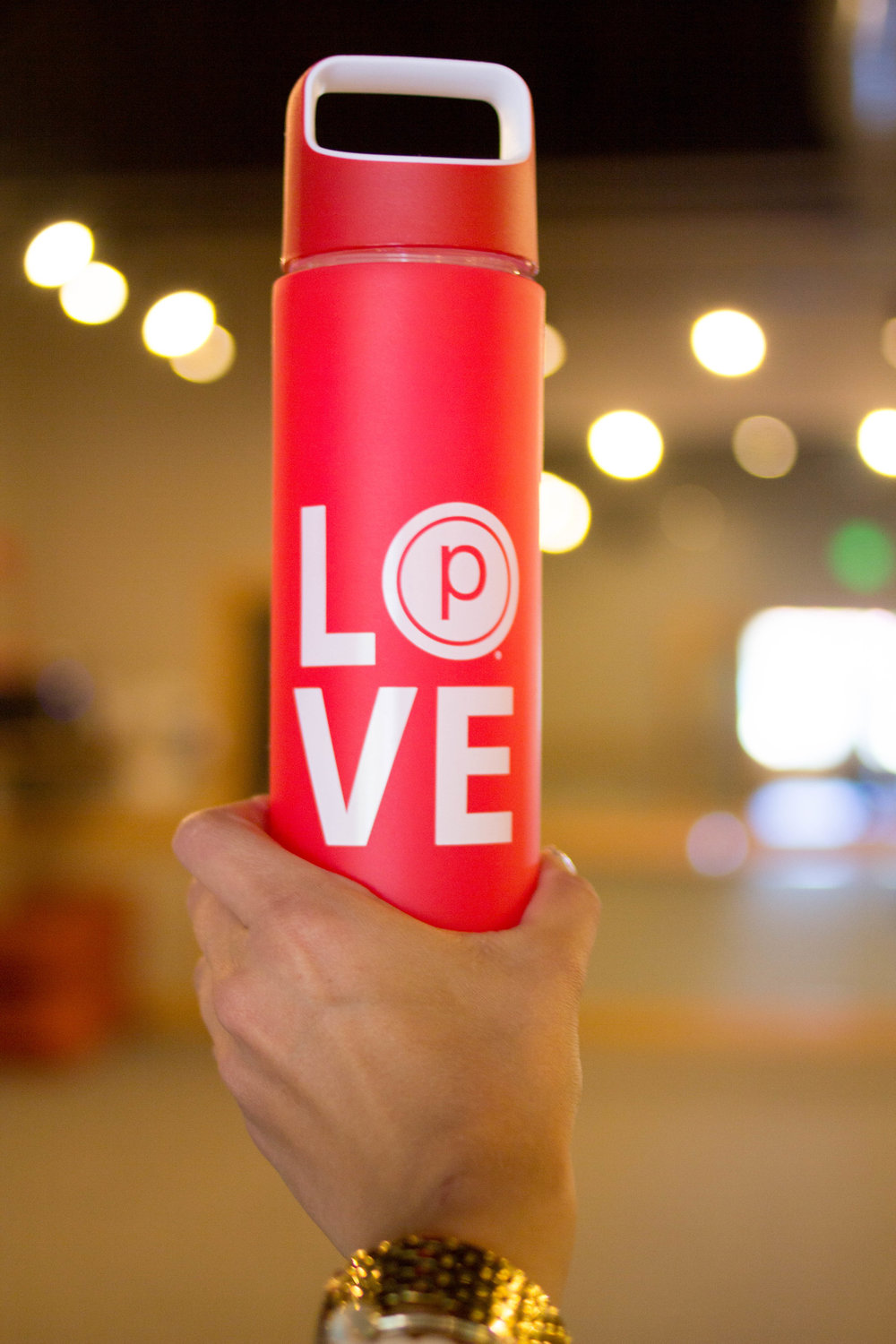 pure barre sonoma love water bottle