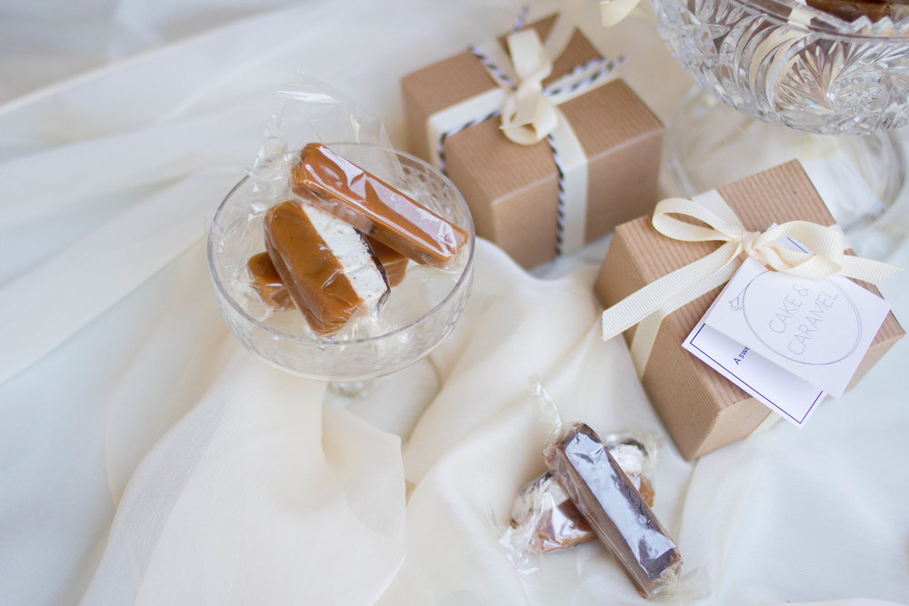 cake and caramel