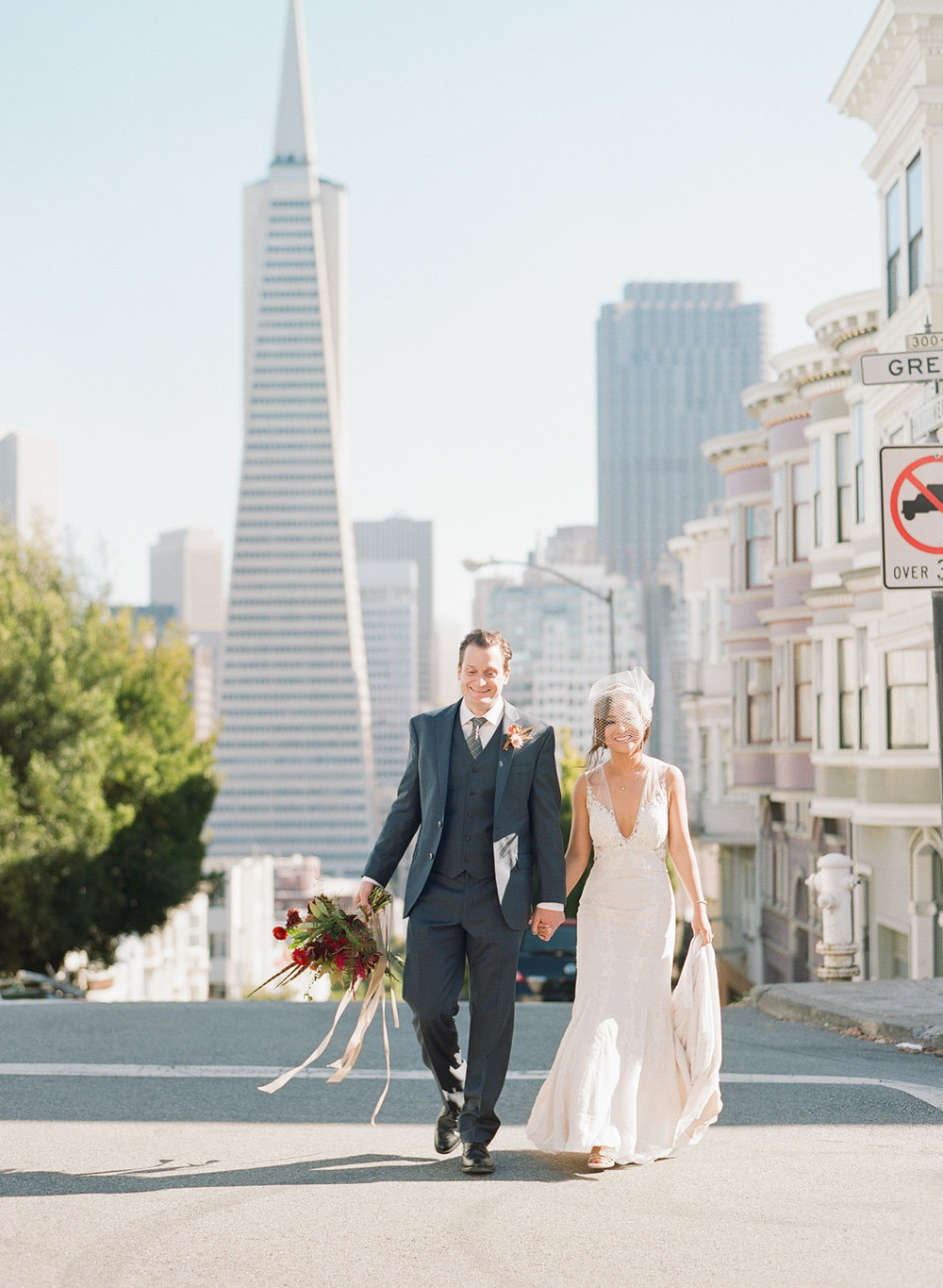 san francisco jewel tone wedding