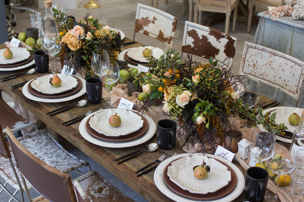 fall inspired table theoni collection