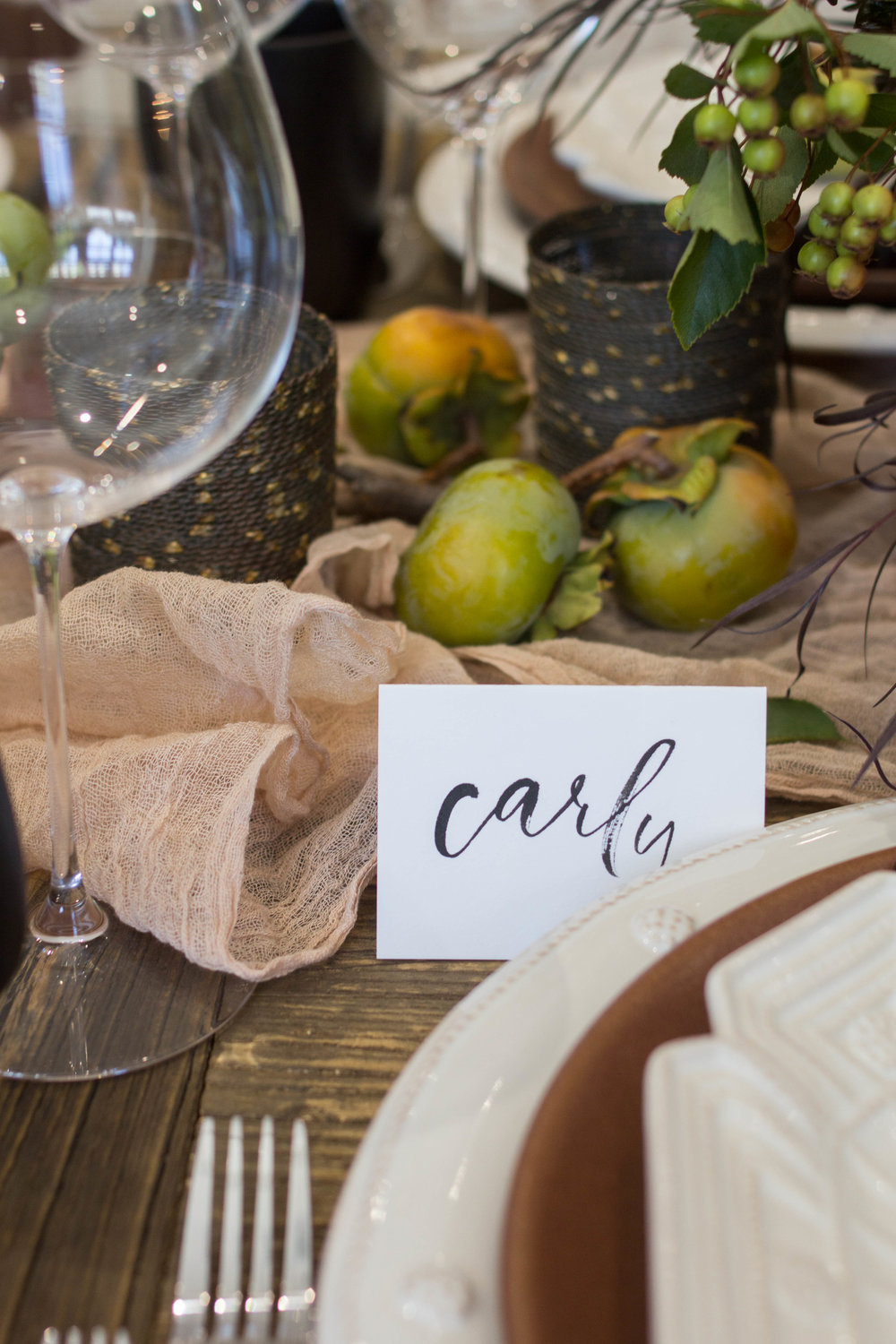 fall inspired table place card