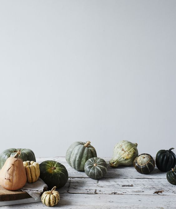 neutral pumpkin fall decor
