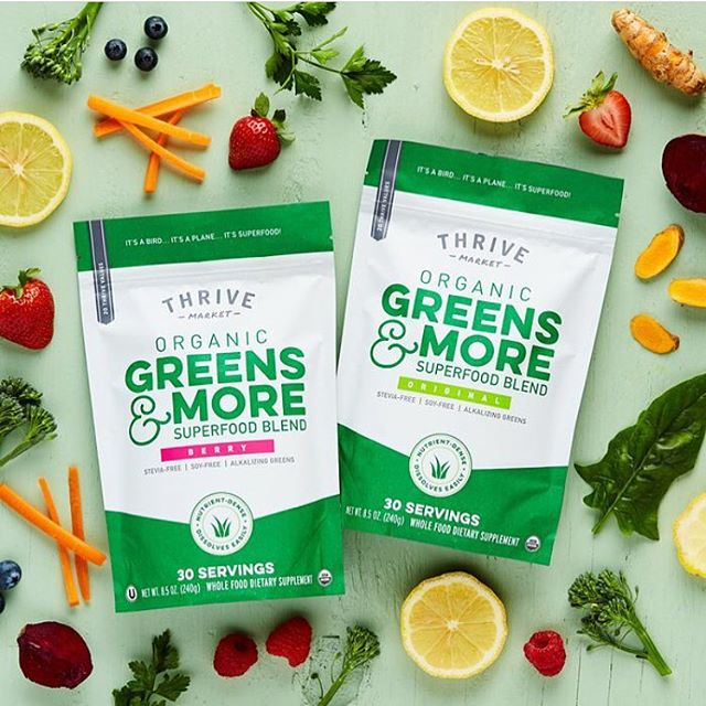 If you've ever felt like eating healthy is expensive, raise your hand! 🙋‍♀️🙋‍♂️ Well, Thrive Market is here to change that. @thrivemkt only carries wholesome products, at wholesale prices, and get this- they deliver straight to your door step! Check out these superfood blends and so much more at Thrive Market 🙌🏼