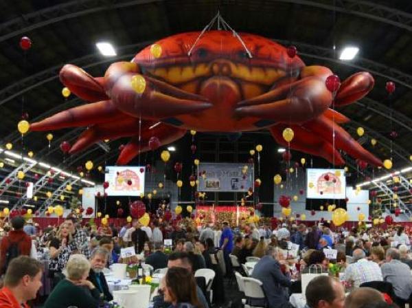 crab and wine fest dinner wine tasting