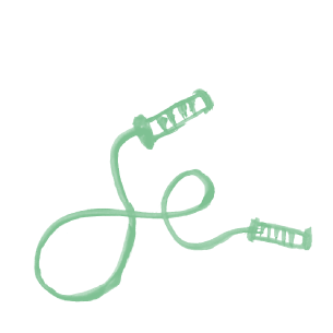 Illustration of a skipping rope