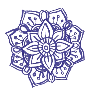 Illustration of a mandala flower
