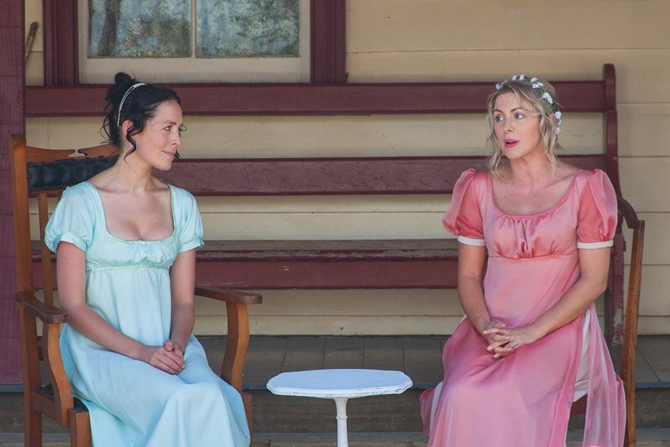 Above: Aimee Olivia (left) playing Elizabeth Bennet in Pride & Prejudice
