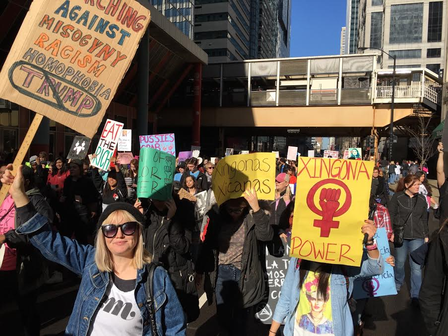 Embassador Lucy representing at the Women's March in the United States